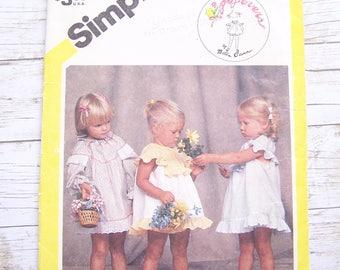 Simplicity 6341 toddler dress pattern uncut