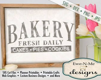 Bakery SVG - cakes pies cookies svg - bakery fresh cut file - kitchen svg - baked goods svg - Commercial Use svg -  svg, dfx, png, jpg
