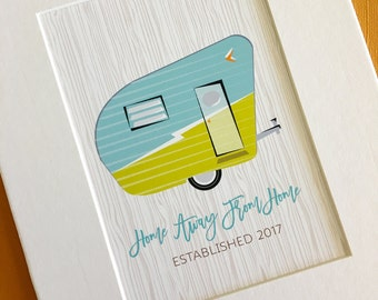 Home Away from Home... personalized Camper print