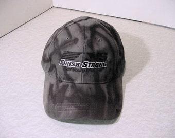 Dyed Baseball Cap hat Horse Logo Harrisburg unisex velcro adjustable, dark gray black altered fashion Hobo