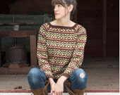 Rail Trail Sweater kit: includes pattern download code & yarn needed to complete (6-7 skeins Mohonk cormo wool)