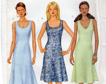 Butterick 3022 Misses Dress Uncut Pattern Size 12-14-16 Copyright 2001