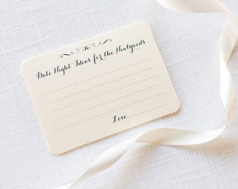Date Night Cards, Date Night Ideas, Bridal Shower Games, Newlywed Advice, Wedding Advice, Advice Cards, Date Night Games