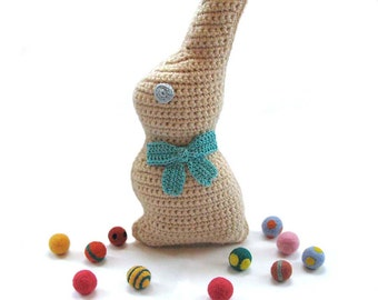 One Large Crochet Chocolate Easter Bunny Chocolate Rabbit