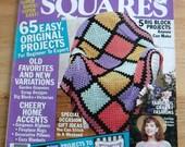 Granny Squares crochet patterns, crochet afghan patterns, 1992 Vintage crochet pattern magazine, crochet patchwork patterns, crochet sweater