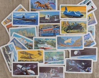 Vintage Ephemera Tea Trading Cards Transportation Space Age