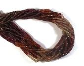 Cyber Monday SALE - Tunduru Sapphire Beads, Gemstone Rondelles, 13.5 Inch Strand, 3.8-4mm Faceted Garnet Gemstones, Supplies (R-Tsa2)