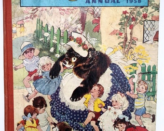 PLAYHOUR Annual Pictures and Stories Vintage Children's 1958 England Amalgamated Press Harcover Book