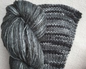 Silk Yarn Worsted weight Hand Dyed  - Graphite