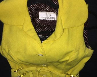 Sunny Yellow Vintage Hear Say Dress