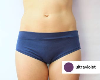 ready to ship / basic panties / super soft bamboo jersey / by replicca / ultraviolet / size small
