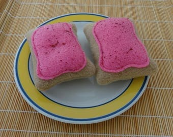 Squeaky Cherry Frosted Toaster Pastry for Small Dogs
