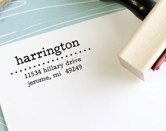 Address Stamp - Self Inking Return Address Stamp - rubber stamp - Custom and Personalized Stamp, Housewarming gift - omaha style