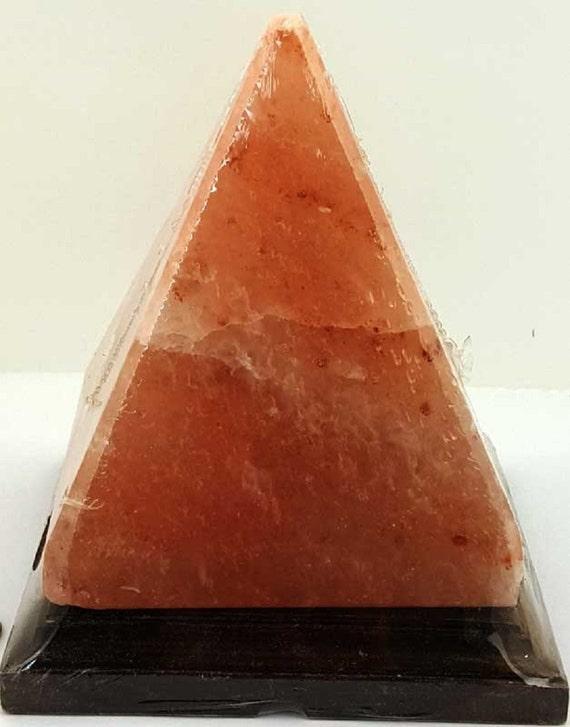 Himalayan Salt 6 Pyramid Salt Lamp-draw away by sweetpeacejewelry