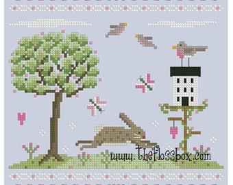 Spring Hops In Cross Stitch Pattern