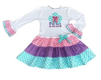 Personalized Abby Cadabby Tiered Dress,  Abby Cadabby Birthday Girl Dress, Abby Cadabby Girl Outfit, Abby Cadabby Birthday Party
