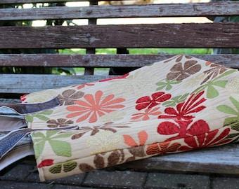 Boutique Tote Shoulder Bag - Fabric Purse - Super Shoulder Bag - Fall - Neutral Floral
