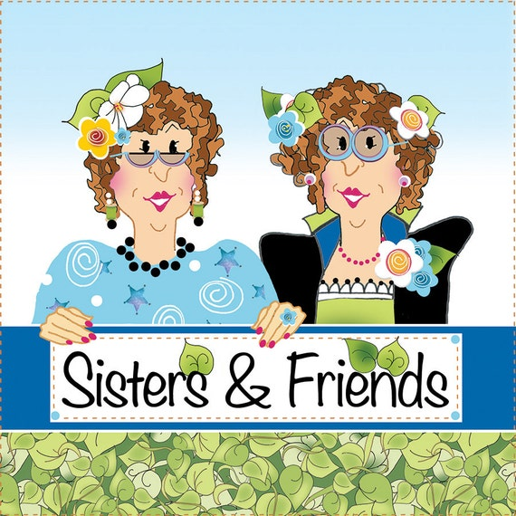 "Sisters & Friends 6"" Fabric Art Panel"