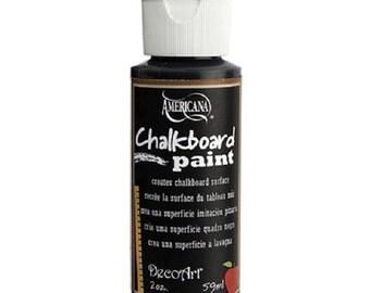 Americana DecoArt Chalkboard Paint, Black, 2 Ounce Bottle