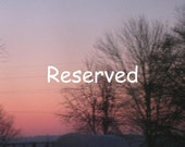 RESERVED For Mindy