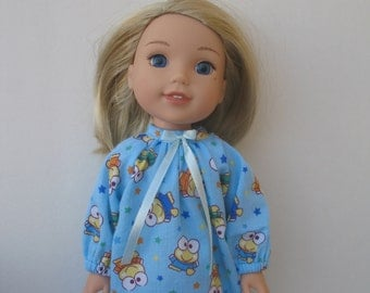 """Wellie Wishers American girl 14.5"""" Doll Clothes  Nightgown"""