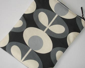 Mini iPad Mini Case Cover Pouch Sleeve Designer Orla Kiely Oval Flower Cool Grey