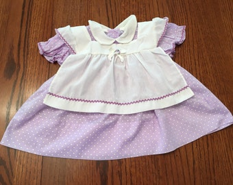 Purple Apron Dress 9/12 Months