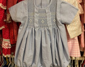 Smocked Bubble Romper 12/18 Months