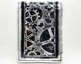 Real Metal Steampunk Wallet - RFID Blocking Wallet - Tarnish Ironhide (a)