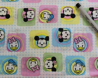Baby Mickey and  Minnie Mouse   100% cotton fabric by Disney for Springs