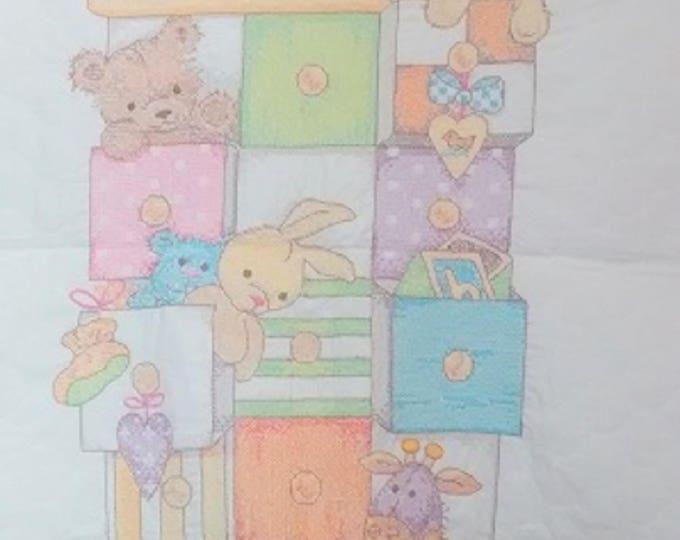 Teddy Bear Crib Cover