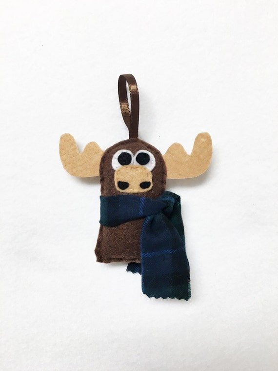 Moose Ornament, Christmas Ornament, Felt Ornament, Moose - Made to Order, Woodland Animal, Gifts for Kids, Stocking Stuffer