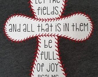 Baseball/ Softball Prayer Vinyl Shirt