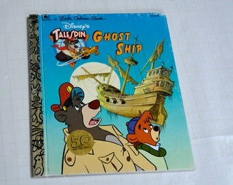Disney Talespin Ghost Ship book, A Little Golden Golden Book, Baloo book, Disney book, story book,vintage books, children's books,