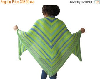 WINTER SALE NEW! Cotton Triangle Shawl by Afra
