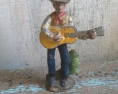 Vintage Cowboy Figurine, Made of Cast Iron