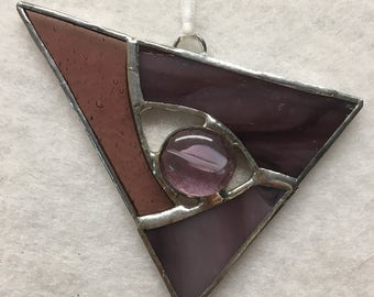 Stained Glass Ornament - Purple