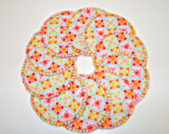 Bright Squares Make-up Remover Pads Washable Reusable Cotton Rounds, Facial Pads, Cosmetic Wipes
