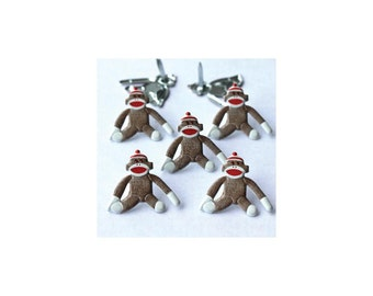 Sock Monkey Brads - Two Packages