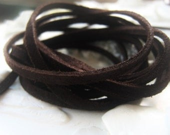 Leather Tobacco Brown Suede Lace 3mm Unisex Cord Mens Cord Item No. 8526