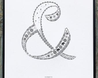 Viparit letterpress ampersand print