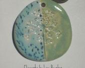 Porcelain Queen Anne's Lace Pendant