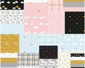 """SALE 20% Off SQ96 Riley Blake When Skies Are Grey Precut 5"""" Stacker Charm Pack Fabric Quilting Squares 5-5600-42"""