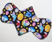 "10.5"" Heavy - Floral Skulls - Reusable Cloth Menstrual Pad (10HC)"