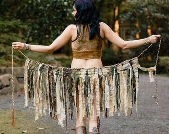 Sulis Festival Skirt - Hippie Skirt - Pixie Skirt - Gypsy Skirt - Womens Tutu - Wrap Skirt - Up-cycled Skirt - Intergalactic Apparel