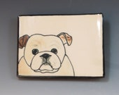 Handbuilt Ceramic Soap Dish with Bulldog