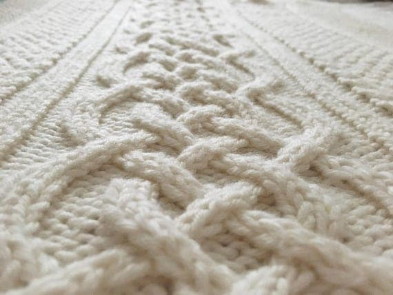 Celtic blanket knitting pattern celtic cable design Celtic ...