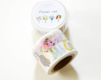 Flower Cat Washi Tape • Kamito Masking Tape (CRM00803)