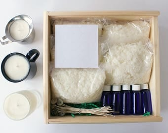 Soy Candle Making Kit. Candle Kit. DIY Candle Kit. Candle Making. Candle Supplies. Soy Candles. Soy Wax Candles. Craft Kit for Adults.