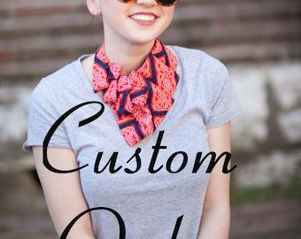 Custom Necktie Scarf - Made to Order Necktie Necklace - Gift For Her - Custom Gift - Gift for Mom - Memorial Gift - Custom Birthday Gift.